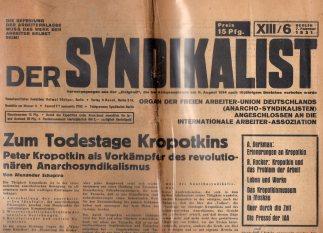 Syndikalist Zeitung Original