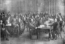 The First International Syndicalist Congress in London 1913 This picture was first published in the 1913 edition of Syndikalistens julnummer, a Swedish periodical http://www.pelloutier.net/dossiers/dossiers.php?id_dossier=187
